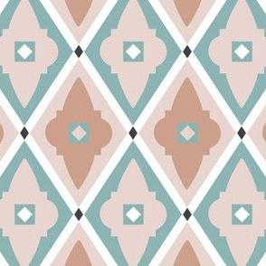 quatrefoils soft pink and light blue