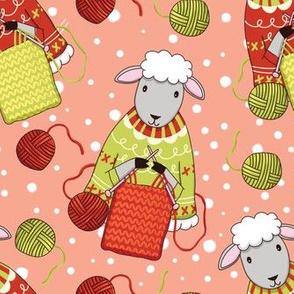cute knitting sheep