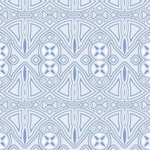 art deco industrial blue