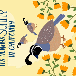 Its Always Sunny in California - Quail and Poppies
