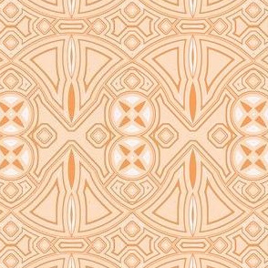 art deco industrial orange