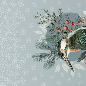 Bird in Winter - Tea Towel