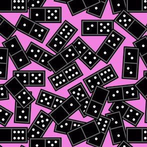 domino scatter pink 16x16