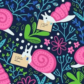 Garden snail mail