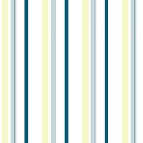 stripes/blue yellow white