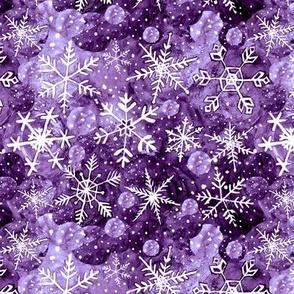Purple snowflake Christmas