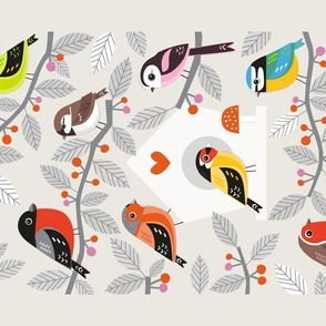 Tea Towel Garden Birds