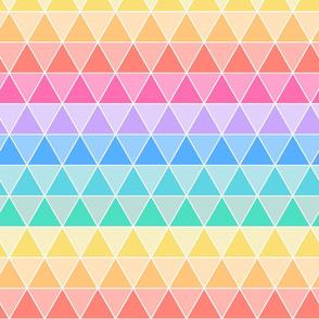 Tesselating Triangles Pastel Rainbow