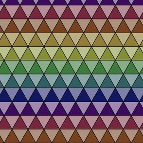 Tesselating Triangles  Muted Rainbow