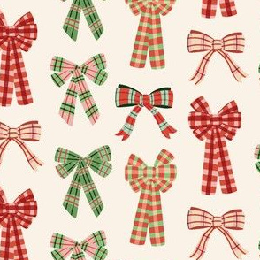 Plaid Christmas Bows
