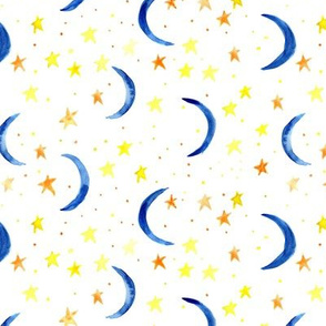 sweet dreams - watercolor magic night sky with stars and moons for nursery 326