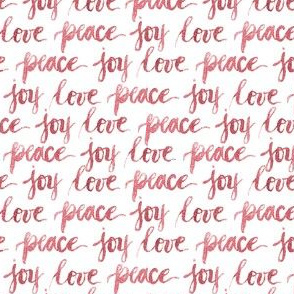 love peace joy | watercolor christmas typography Red|Renee Davis