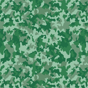 Camouflage in green