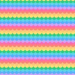 Mermaid scales pastel rainbow