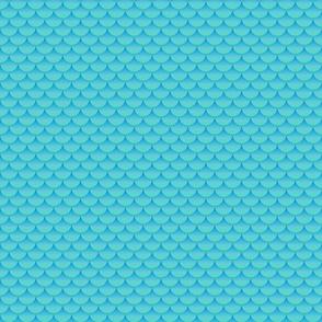 Mermaid scales 3D green blue