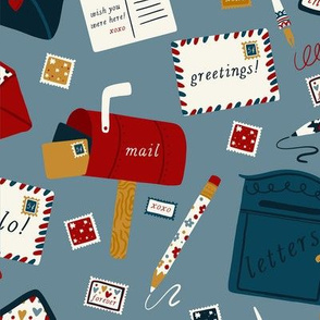 Lamb Illustration's Postal Service Pattern