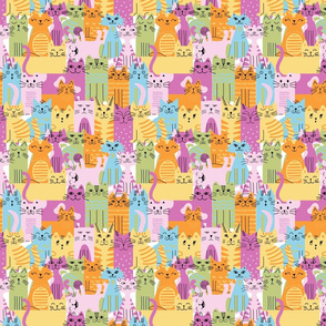 Bunch of cats pop art