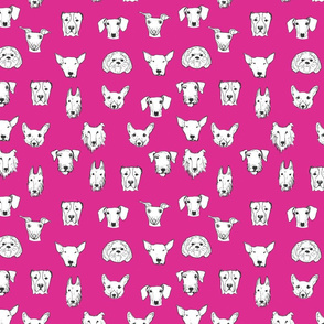 Best Friends - My Pet Dog Illustration - Pink