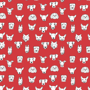 Best Friends - My Pet Dog Illustration - Red
