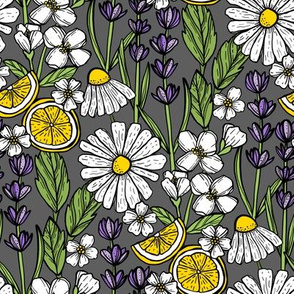 Aromatic Garden (Charcoal Gray)