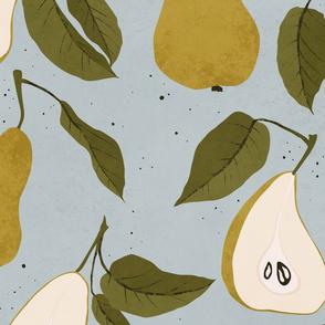 Pair of Pears Seamless Pattern / Jumbo Scale