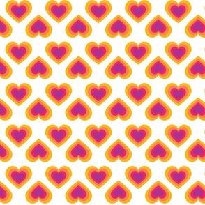 Rainbow Hearts Retro