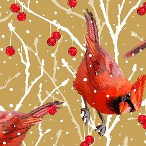 Snowy Cardinal Love | Southwind Gold