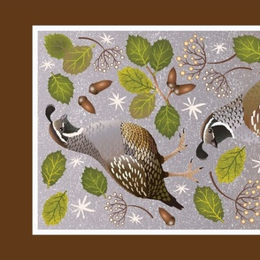 Ojai Meadow Quail Tea Towel