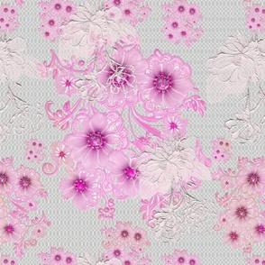 Golden,pink floral