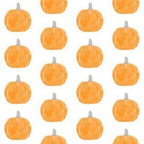 watercolor pumpkin polka dots