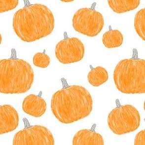 watercolor pumpkins on white