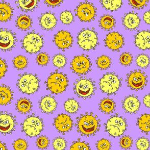 Creepy Cute Virus Purple