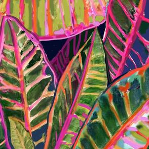 Flamboyant Croton Leaves1-fuscia indigo