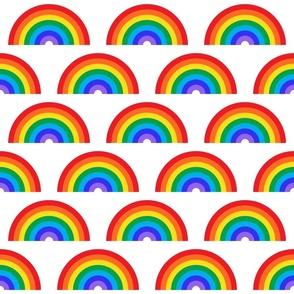 Rainbow Semi-circle on White