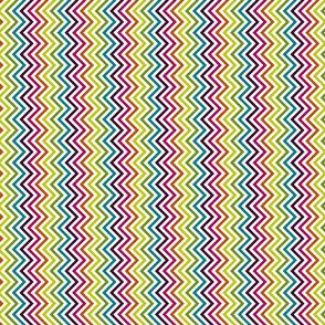 zig zags contemporary multicoloured on white