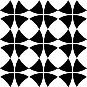 Wheel of Mystery Black White