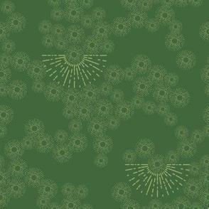 million little sunbursts  - green