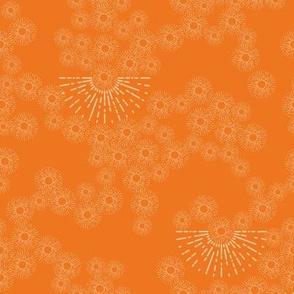 million little sunbursts - orange