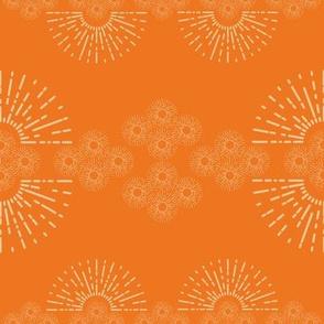 organized little sunbursts - orange