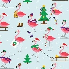 Flamingo Winter Outdoor Fun