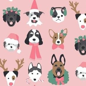 Pink Christmas Puppy Dogs