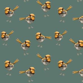 Golden Wrens Ditsy Enamel Green // standard