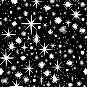 shimmering stars - black