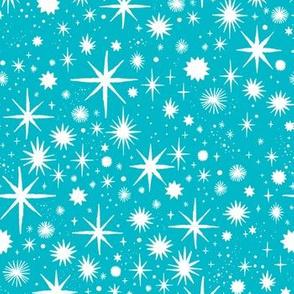 shimmering stars - teal