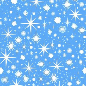 shimmering stars - periwinkle