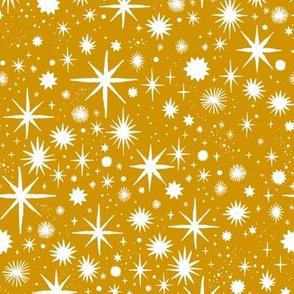 shimmering stars - mustard