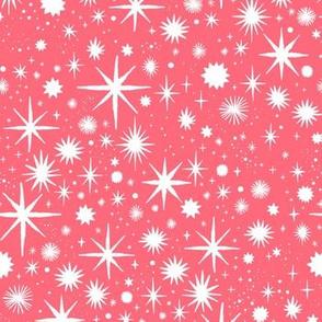 shimmering stars - coral