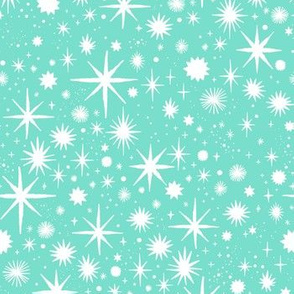 shimmering stars - turquoise