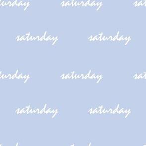 Sky blue saturday - small scale