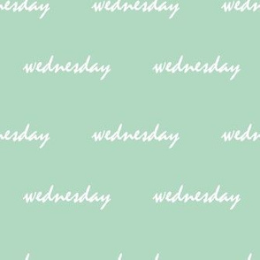 wednesday mint green - small scale